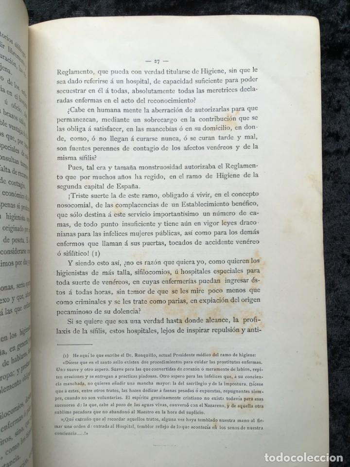 Libros antiguos: 1886 - DE LA PROSTITUCIÓN - REGLAMENTACIÓN Y DE LA PROFILAXIS SÍFILIS - ENRIQUE GELABERT CABALLERÍA - Foto 5 - 188678525