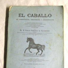 Libros antiguos: EL CABALLO SU CONSTITUCIÓN, RESISTENCIA Y CONSERVACIÓN, AÑO 1886 DR. CARLOS FERNANDEZ DE CASTROVERDE. Lote 188717403