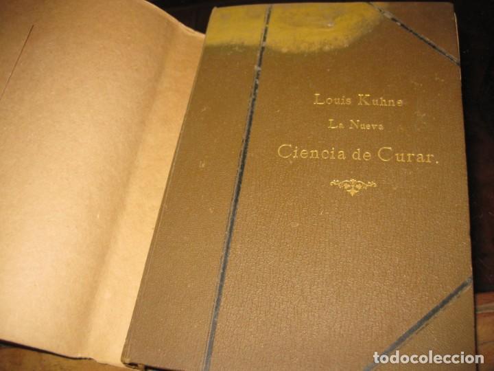 Libros antiguos: la nueva ciencia de curar luis kuhne medicina leipzig 1894 curacion sin medicamentos ni operaciones - Foto 2 - 189595908