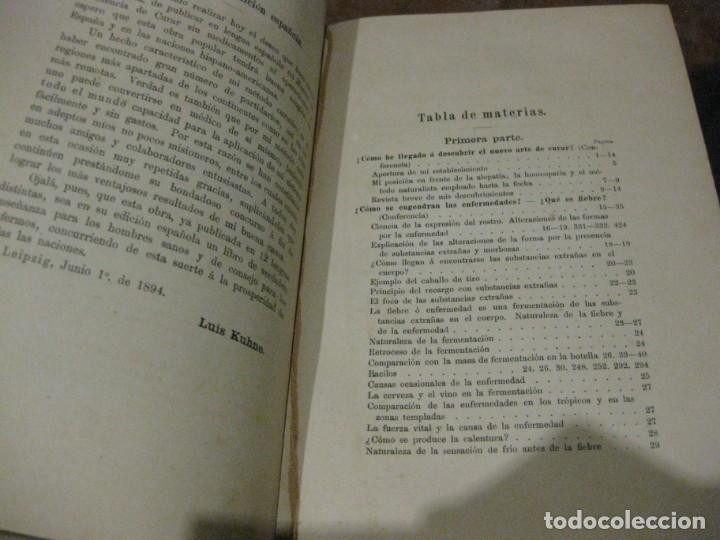 Libros antiguos: la nueva ciencia de curar luis kuhne medicina leipzig 1894 curacion sin medicamentos ni operaciones - Foto 3 - 189595908