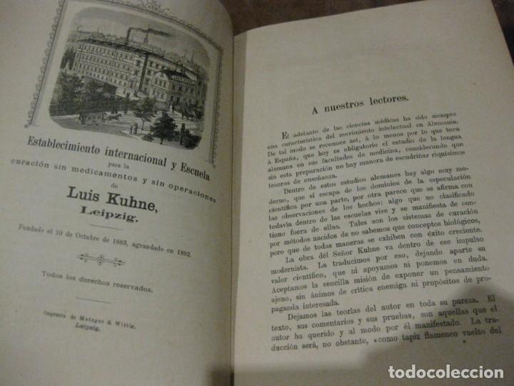 Libros antiguos: la nueva ciencia de curar luis kuhne medicina leipzig 1894 curacion sin medicamentos ni operaciones - Foto 4 - 189595908