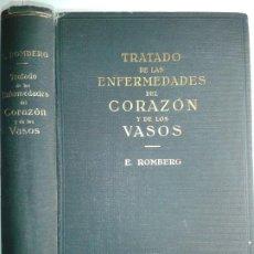 Libros antiguos: TRATADO DE LAS ENFERMEDADES DEL CORAZÓN Y DE LOS VASOS 1931 ERNESTO ROMBERG 1ª EDICIÓN LABOR . Lote 190284085