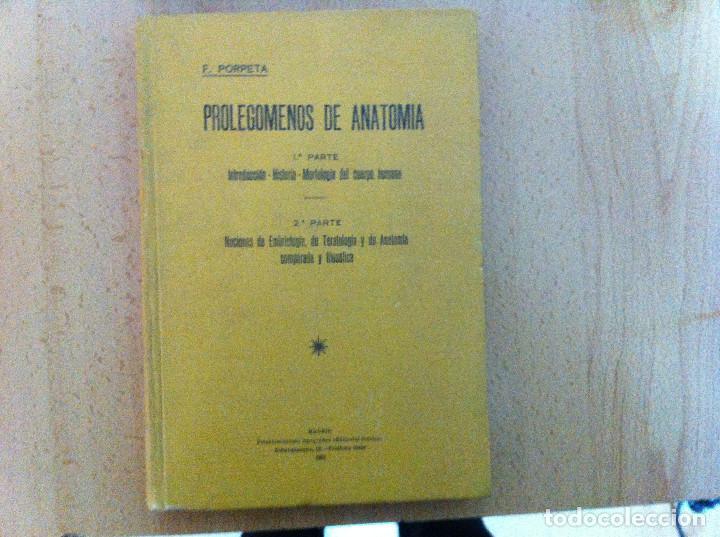 Libros antiguos: Prolegomenos de anatomía. F.Porpeta. 3ªed. 1931 - Foto 2 - 190931230