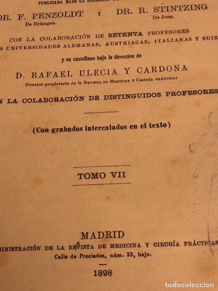 Libros antiguos: Libro tratado de terapéutica 1898 - Foto 3 - 191543000