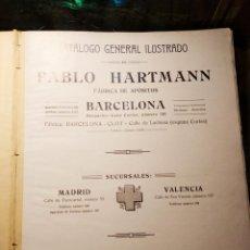 Libros antiguos: CATALOGO GENERAL DE PABLO HARTMANN, BARCELONA 1915, APOSITOS, ORTOPEDIA, CIRUGÌA, MEDICINA, FARMACIA. Lote 191655505