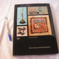Libros antiguos: BREVE HISTORIA DEL MEDICAMENTO. LYDIA MEZ-MANGOLD. ROCHE. BASILEA. 1971.. Lote 192077696