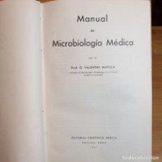 Libros antiguos: MANUAL MICROBIOLOGIA MEDICA.1943. 2 TOMOS. Lote 192088820