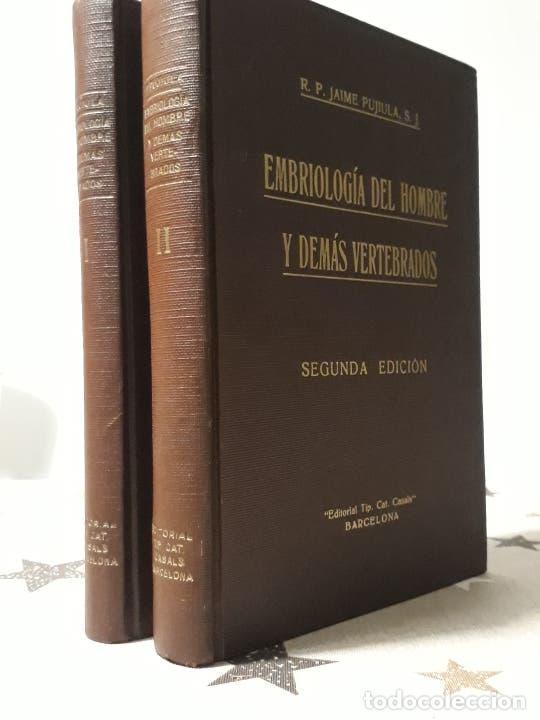EMBRIOLOGIA DEL HOMBRE Y DEMAS VERTEBRADOS (Libros Antiguos, Raros y Curiosos - Ciencias, Manuales y Oficios - Medicina, Farmacia y Salud)