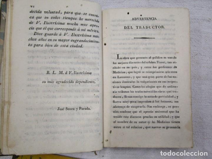 Libros antiguos: Enfermedades de nervios abuso de los placeres del amor y excesos del onanismo, 1828, Tissot, Senra + - Foto 5 - 194211782
