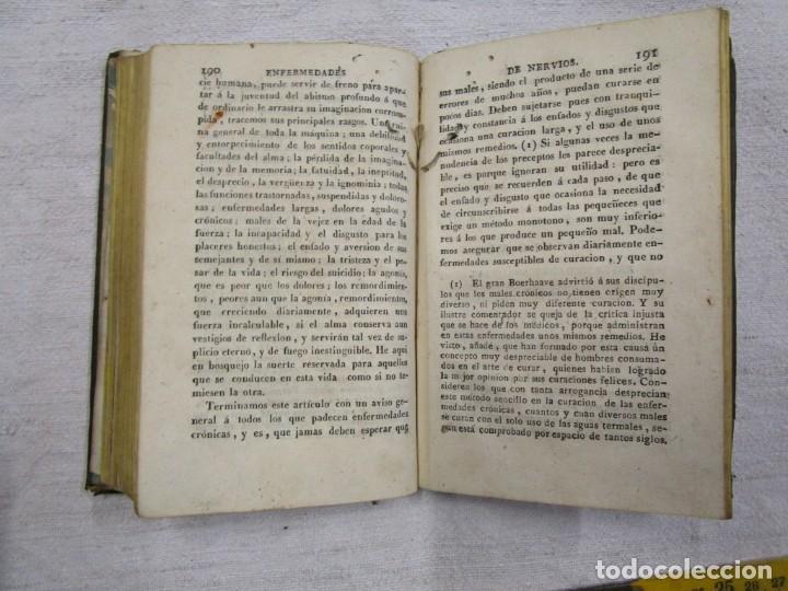 Libros antiguos: Enfermedades de nervios abuso de los placeres del amor y excesos del onanismo, 1828, Tissot, Senra + - Foto 8 - 194211782