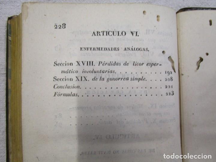 Libros antiguos: Enfermedades de nervios abuso de los placeres del amor y excesos del onanismo, 1828, Tissot, Senra + - Foto 10 - 194211782