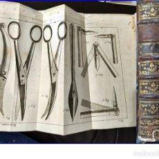 Libros antiguos: AÑO 1777: LIBRO DE MEDICINA DEL SIGLO XVIII CON DESPLEGABLES DE INSTRUMENTAL MÉDICO. 720 PÁGINAS.. Lote 194213261