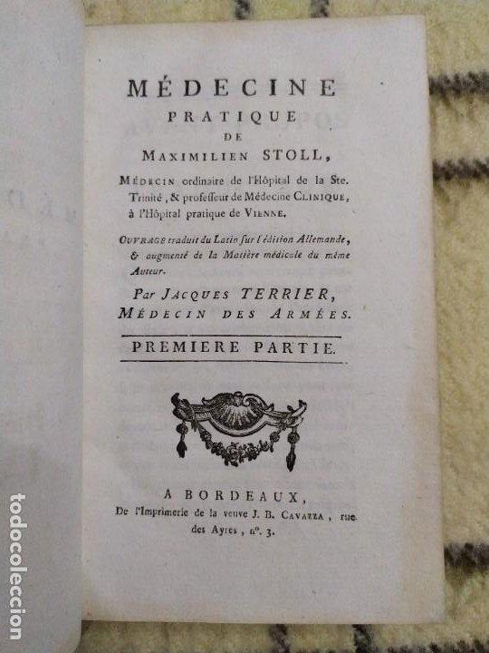 Libros antiguos: 1797. Medicina práctica de Maximilien Stoll. Obra completa. Exlibris Marqués de Santo Domingo. - Foto 4 - 194237952