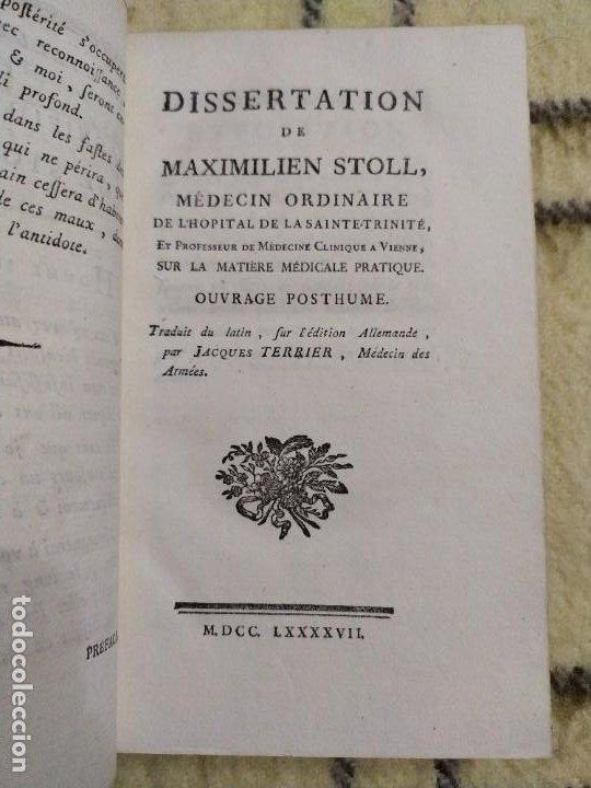 Libros antiguos: 1797. Medicina práctica de Maximilien Stoll. Obra completa. Exlibris Marqués de Santo Domingo. - Foto 5 - 194237952