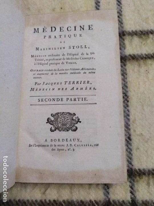 Libros antiguos: 1797. Medicina práctica de Maximilien Stoll. Obra completa. Exlibris Marqués de Santo Domingo. - Foto 20 - 194237952