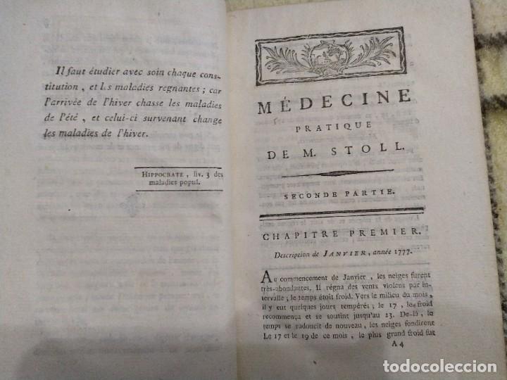 Libros antiguos: 1797. Medicina práctica de Maximilien Stoll. Obra completa. Exlibris Marqués de Santo Domingo. - Foto 21 - 194237952