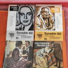 Libros antiguos: REVISTAS LECCIONES MÉDICAS NÚMEROS 88,89,109,112AÑOS 69Y71. Lote 194265056