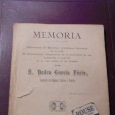 Libros antiguos: SALUD / BARCELONA - MEMORIA , 1884 SANEAMIENTO DE BARCELONSA . CONDICIONES HIGIÉNICAS DE LA URBE .. Lote 194308760