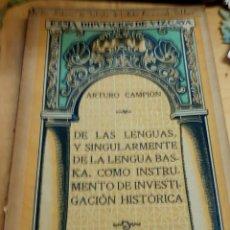 Libros antiguos: CONTRIBUCIÓN DE LOS MÉDICOS A LA CULTURA DEL PAÍS CONFERENCIA VICTORIANO JUARISTI AÑO 1921. Lote 194310232