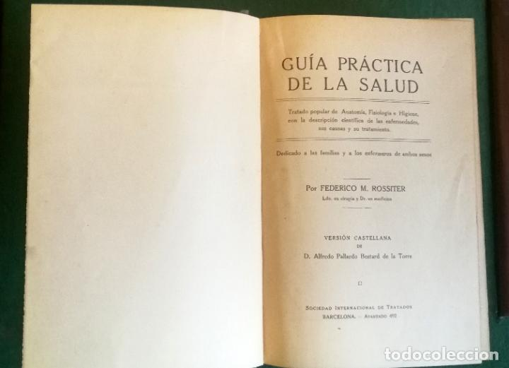 Libros antiguos: LS 32 - GUÍA PRÁCTICA DE LA SALUD - ROSSITER - TRATADO ILUSTRADO EN PERFECTO ESTADO - Foto 6 - 194352193