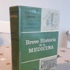 Libros antiguos: LIBRO BREVE HISTORIA DE LA MEDICINA CHARLES SINGER. Lote 194378750