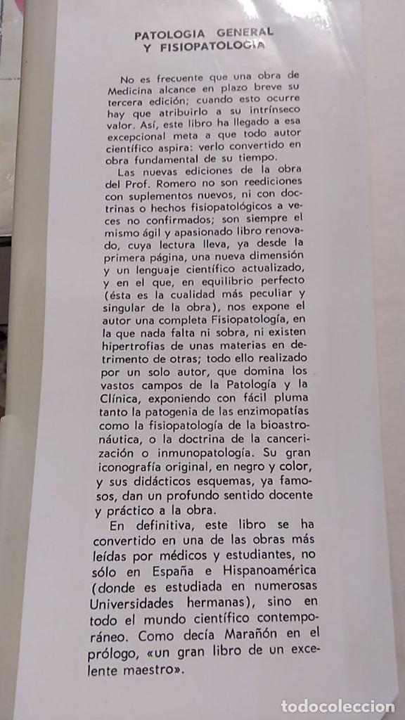Libros antiguos: PATOLOGÍA GENERAL Y FISIOPATOLOGÍA. ENRIQUE ROMERO. 2 VOLÚMENES - Foto 3 - 194620888