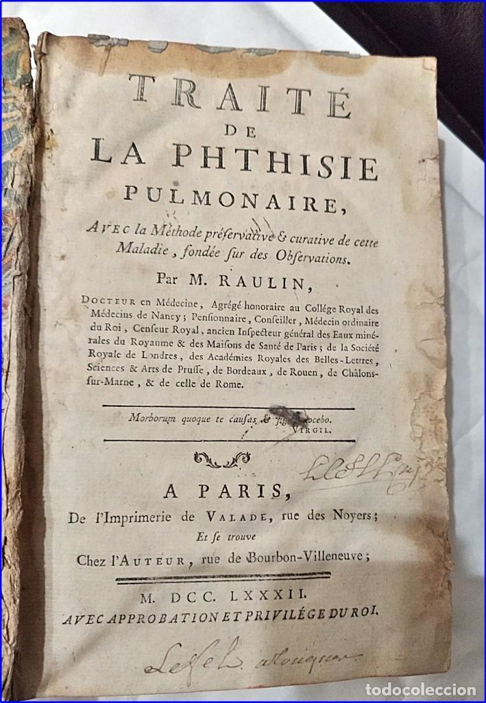AÑO 1782: TRATADO DE LA TISIS PULMONAR. LIBRO DE MEDICINA DEL SIGLO XVIII. (Libros Antiguos, Raros y Curiosos - Ciencias, Manuales y Oficios - Medicina, Farmacia y Salud)