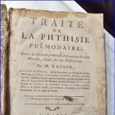 Libros antiguos: AÑO 1782: TRATADO DE LA TISIS PULMONAR. LIBRO DE MEDICINA DEL SIGLO XVIII.. Lote 194866088