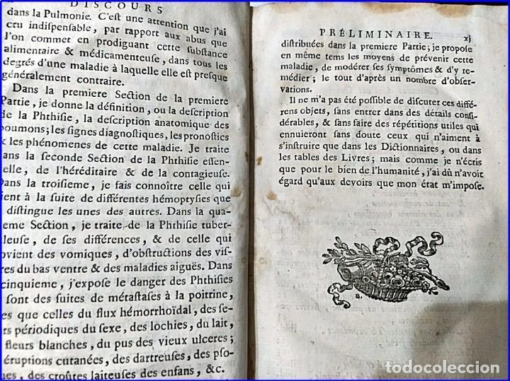 Libros antiguos: AÑO 1782: TRATADO DE LA TISIS PULMONAR. LIBRO DE MEDICINA DEL SIGLO XVIII. - Foto 4 - 194866088