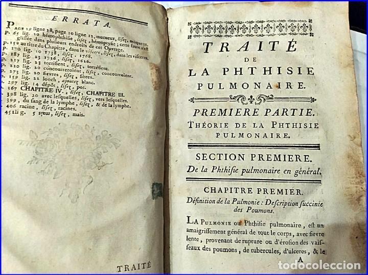 Libros antiguos: AÑO 1782: TRATADO DE LA TISIS PULMONAR. LIBRO DE MEDICINA DEL SIGLO XVIII. - Foto 7 - 194866088