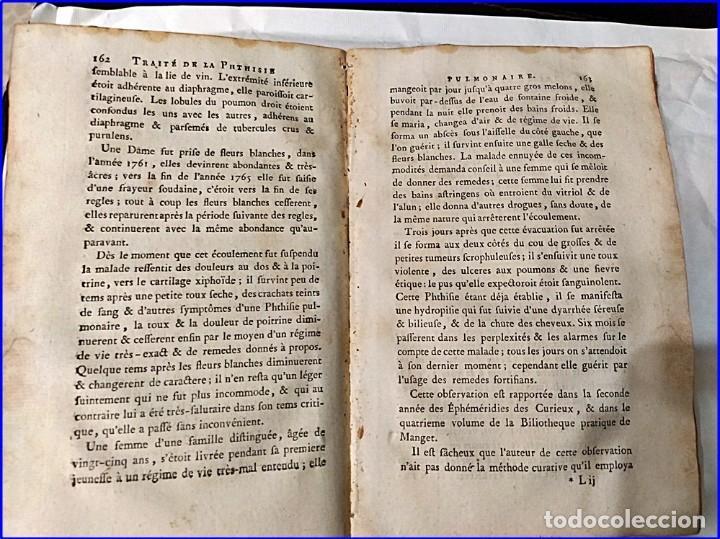 Libros antiguos: AÑO 1782: TRATADO DE LA TISIS PULMONAR. LIBRO DE MEDICINA DEL SIGLO XVIII. - Foto 8 - 194866088