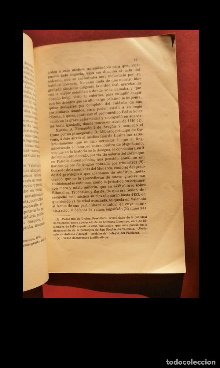 Libros antiguos: Recuerdos apologéticos del maestro en medicina Domingo Ros de Ursins Archivato de los Reyes de Arago - Foto 2 - 194873938