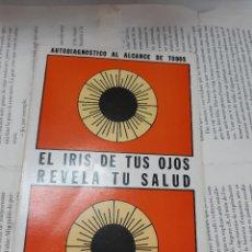 Libros antiguos: EL IRIS DE TUS OJOS REVELA TU SALUD MANUEL LEZARTA ACHARAN . Lote 194932191