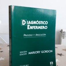 Libros antiguos: LIBRO DIAGNOSTICO ENFERMERO PROCESO Y APLICACIÓN. Lote 195133567