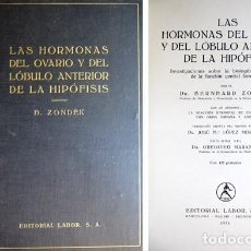 Libros antiguos: ZONDEK, BERNHARD. LAS HORMONAS DEL OVARIO Y DEL LÓBULO ANTERIOR DE LA HIPÓFISIS. 1934.. Lote 195182472