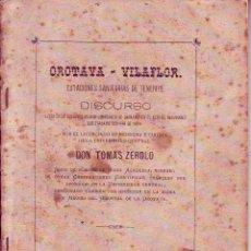 Libros antiguos: TENERIFE - OROTAVA-VILAFOR - ESTACIONES SANITARIAS. D. TOMAS ZEROLO 1884. Lote 195250218