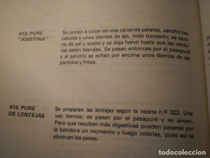 Libros antiguos: Cocina Vegetariana (504 recetas compatibles) Ana Maria Royo (1982) - Foto 8 - 195291535