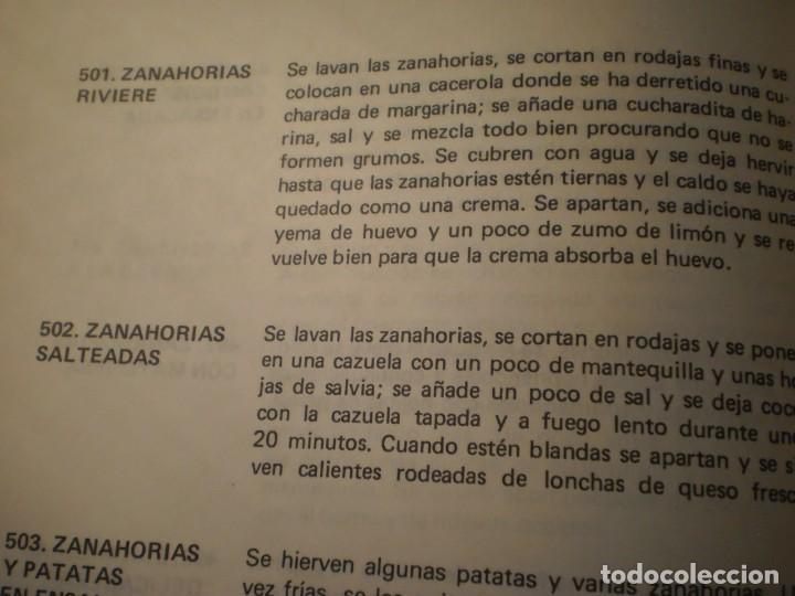 Libros antiguos: Cocina Vegetariana (504 recetas compatibles) Ana Maria Royo (1982) - Foto 9 - 195291535