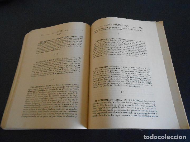 Libros antiguos: QUÉ Y CÓMO DEBEMOS COMER. JOSÉ CASTRO. TERCERA EDICIÓN - Foto 4 - 195298661