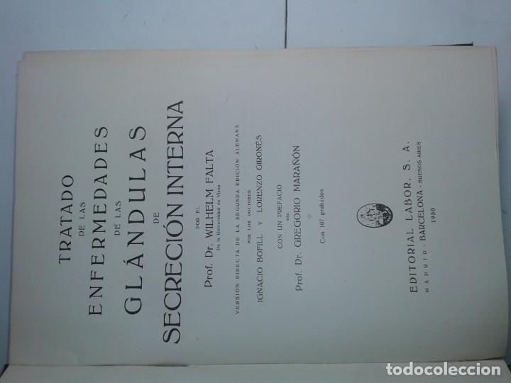 Libros antiguos: TRATADO DE LAS ENFERMEDADES DE LAS GLÁNDULAS DE SECRECCIÓN INTERNA 1930 WILHELM FALTA 1ª ED. LABOR - Foto 2 - 195324608