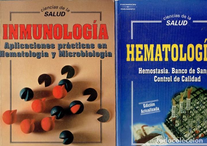2 LIBROS CIENCIAS DE LA SALUD HEMATOLOGIA 2 Y INMUNOLOGIA EDITORIAL PARANINFO S.A. 1995 (Libros Antiguos, Raros y Curiosos - Ciencias, Manuales y Oficios - Medicina, Farmacia y Salud)