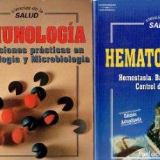 Libros antiguos: 2 LIBROS CIENCIAS DE LA SALUD HEMATOLOGIA 2 Y INMUNOLOGIA EDITORIAL PARANINFO S.A. 1995. Lote 195354072