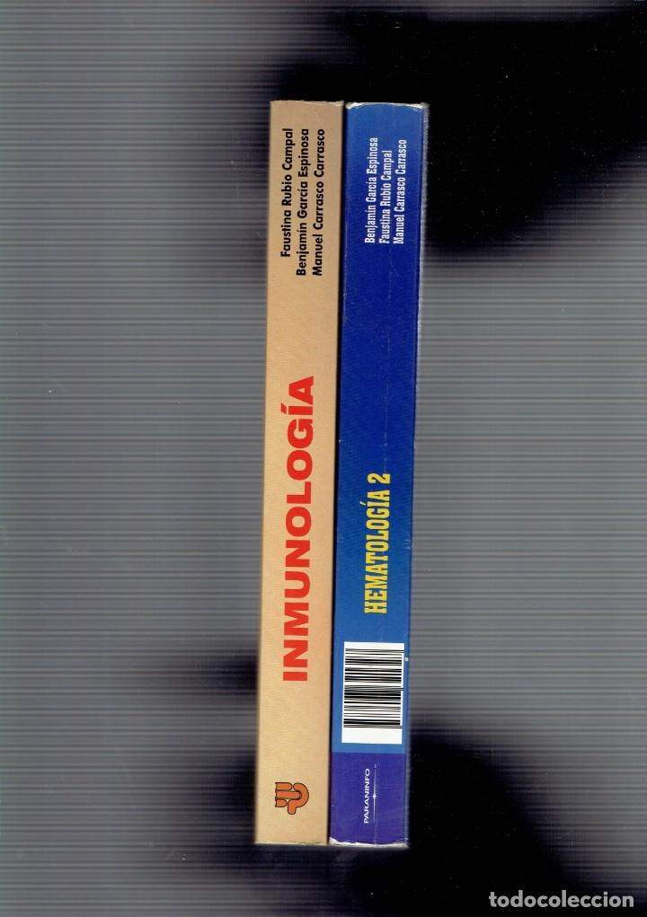 Libros antiguos: 2 LIBROS CIENCIAS DE LA SALUD HEMATOLOGIA 2 Y INMUNOLOGIA EDITORIAL PARANINFO S.A. 1995 - Foto 2 - 195354072
