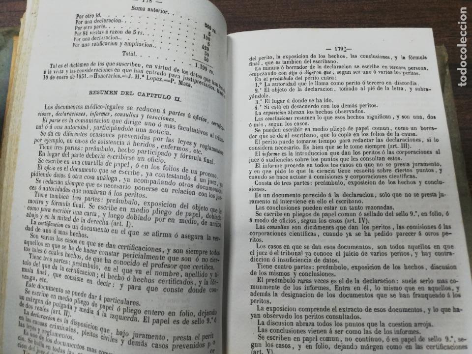 Libros antiguos: TRATADO DE MEDICINA Y CIRUGIA LEGAL. D. PEDRO MATA. 4ª EDICION. TOMO I. CARLOS BAILLY-BAILLIERE.1866 - Foto 4 - 195366092