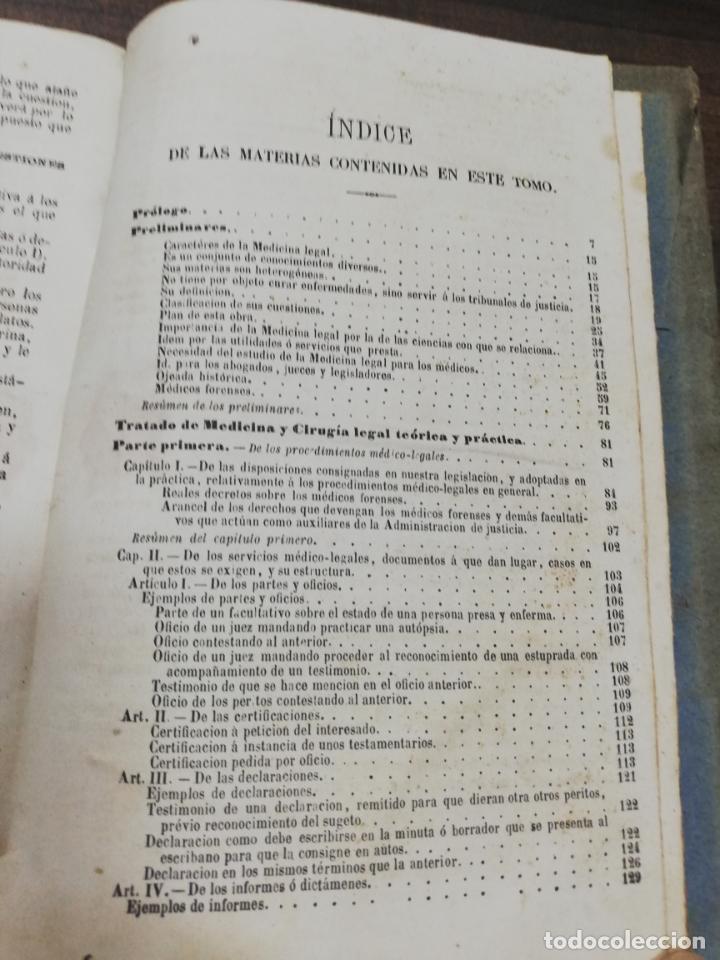 Libros antiguos: TRATADO DE MEDICINA Y CIRUGIA LEGAL. D. PEDRO MATA. 4ª EDICION. TOMO I. CARLOS BAILLY-BAILLIERE.1866 - Foto 5 - 195366092