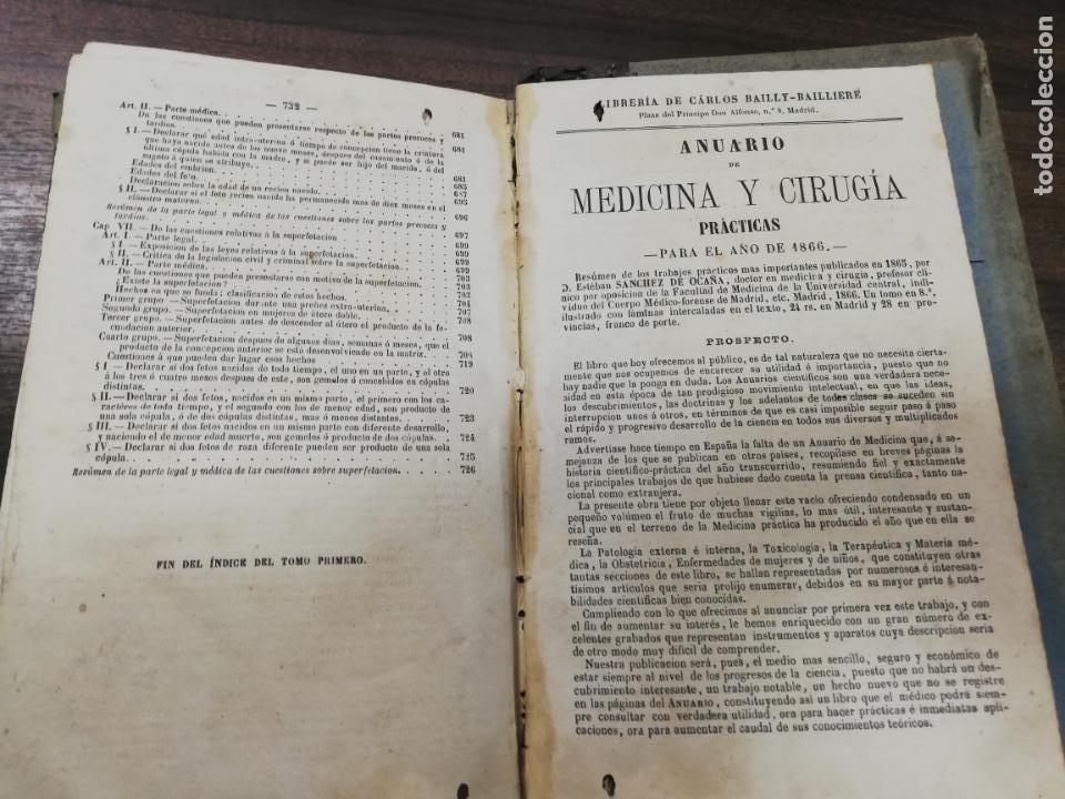 Libros antiguos: TRATADO DE MEDICINA Y CIRUGIA LEGAL. D. PEDRO MATA. 4ª EDICION. TOMO I. CARLOS BAILLY-BAILLIERE.1866 - Foto 8 - 195366092