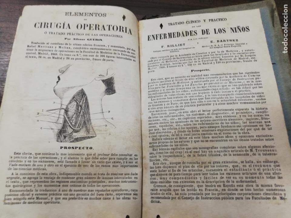 Libros antiguos: TRATADO DE MEDICINA Y CIRUGIA LEGAL. D. PEDRO MATA. 4ª EDICION. TOMO I. CARLOS BAILLY-BAILLIERE.1866 - Foto 9 - 195366092