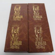 Libros antiguos: 4 LIBROS (LA SALUD POR LA NATURALEZA) Y (LA SALUD POR LA NUTRICIÓN). Lote 195396782