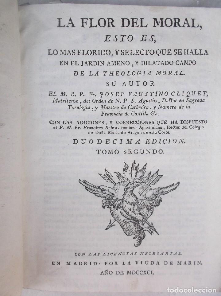 Libros antiguos: ANTIGUO LIBRO 1791 - Foto 3 - 195451915