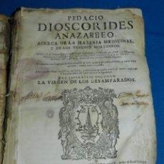Libros antiguos: ANDRÉS DE LAGUNA - PEDACIO DIOSCORIDES ANAZARBEO ACERCA DE LA MATERIA MEDICINAL Y VENENOS MORTIFEROS. Lote 195486703